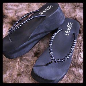 90s Vintage Espirit Platforms Sandals